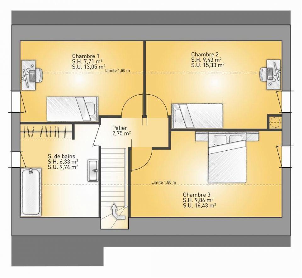 Maisons + Terrains du constructeur MAISONS FRANCE CONFORT • 91 m² • RAMICOURT
