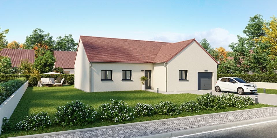 Maisons + Terrains du constructeur MAISONS FRANCE CONFORT • 85 m² • MONTBREHAIN
