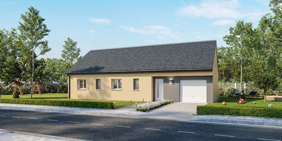 Maisons + Terrains du constructeur MAISONS FRANCE CONFORT • 80 m² • LA BOUTEILLE