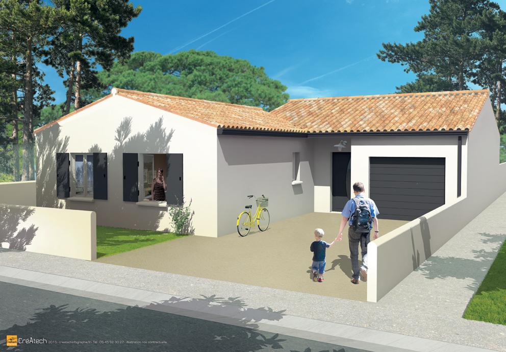 Maisons + Terrains du constructeur MAISONS ACCO - Agence de LA JARNE • 95 m² • ECHILLAIS
