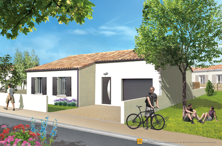 Maisons + Terrains du constructeur MAISONS ACCO - Agence de LA JARNE • 83 m² • FERRIERES