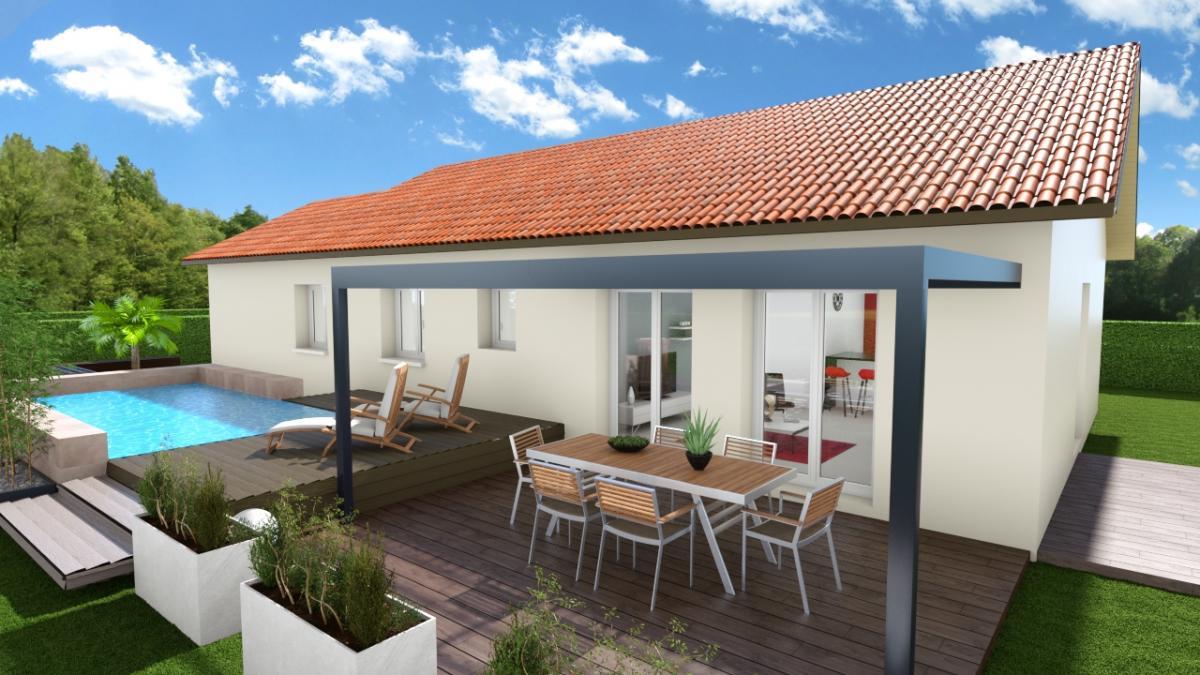 Maisons du constructeur CREAVILLA 38 • 100 m² • COLOMBE