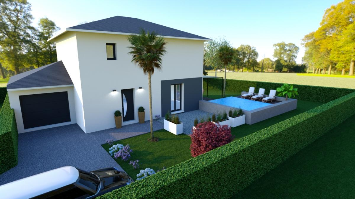 Maisons du constructeur CREAVILLA 38 • 110 m² • LE TOUVET