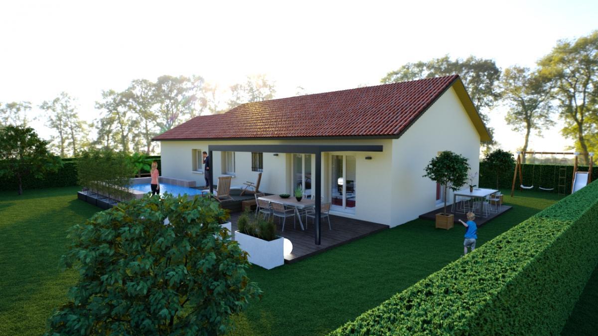 Maisons du constructeur CREAVILLA 38 • 90 m² • IZEAUX