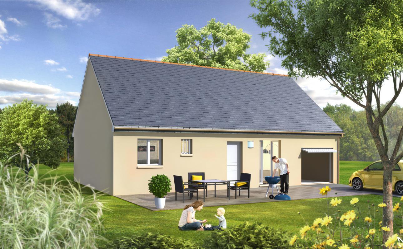 Maisons + Terrains du constructeur Maisons Le Masson LORIENT • 76 m² • INZINZAC LOCHRIST