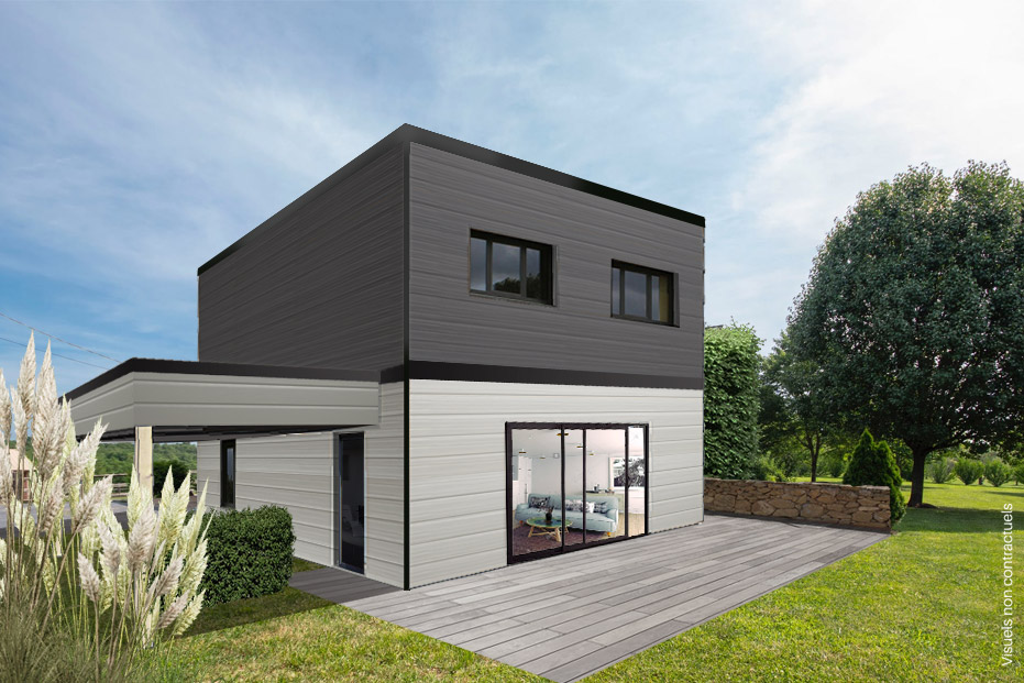 Maisons + Terrains du constructeur LA MAISON DE CEDRE • 84 m² • TRELAZE