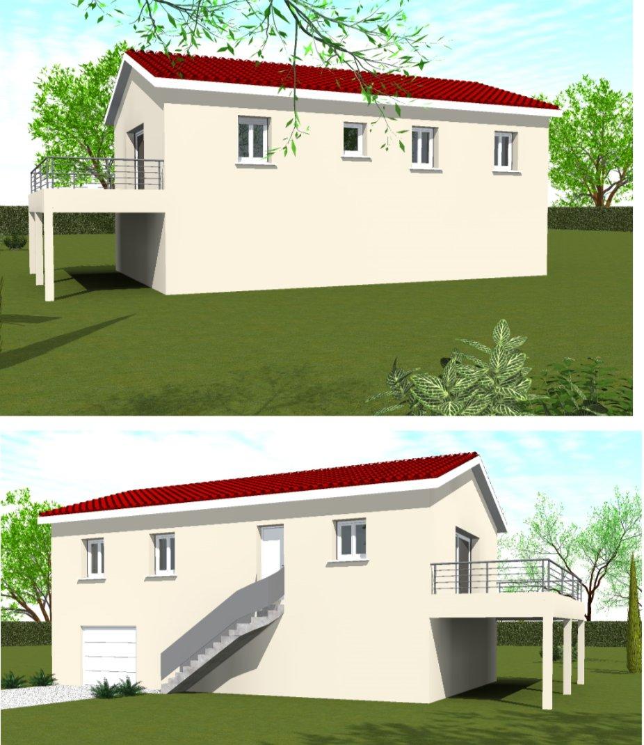 Maisons du constructeur HOME GROUP CONSEILS • 80 m² • SAINT VICTOR DE MORESTEL