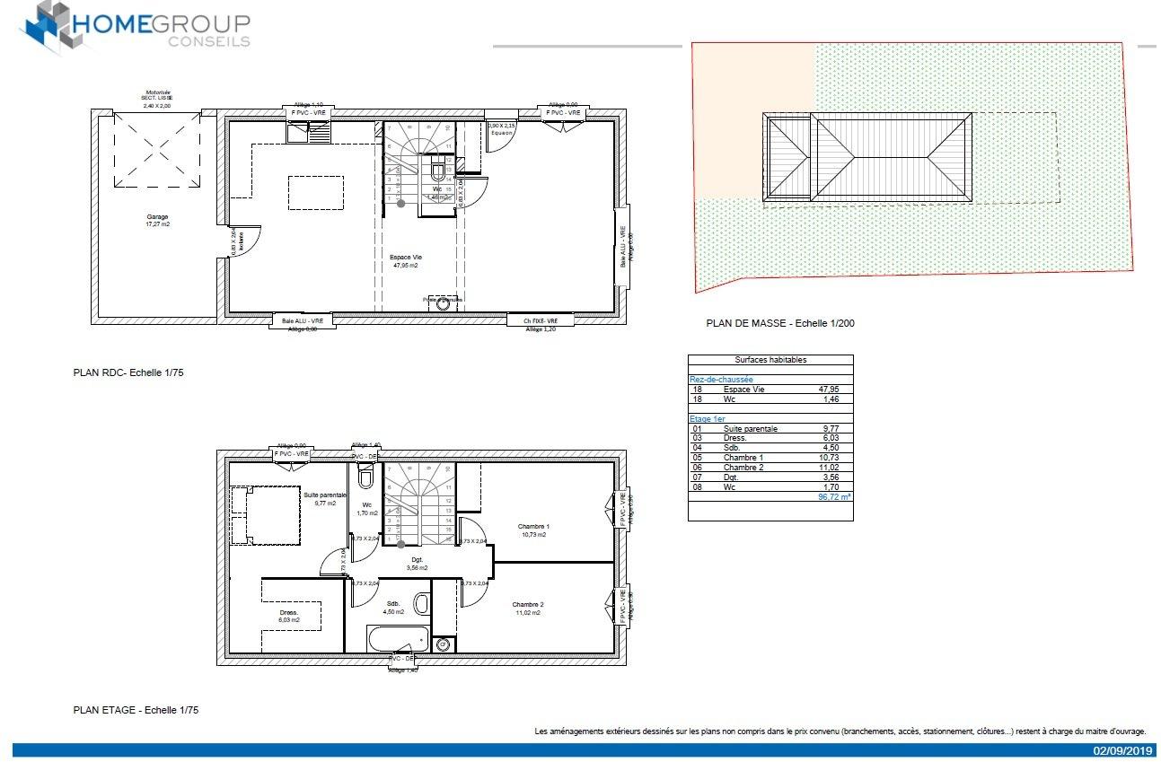 Maisons du constructeur HOME GROUP CONSEILS • 96 m² • SALAISE SUR SANNE
