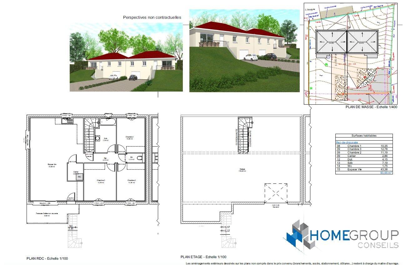 Maisons du constructeur HOME GROUP CONSEILS • 94 m² • VEYSSILIEU