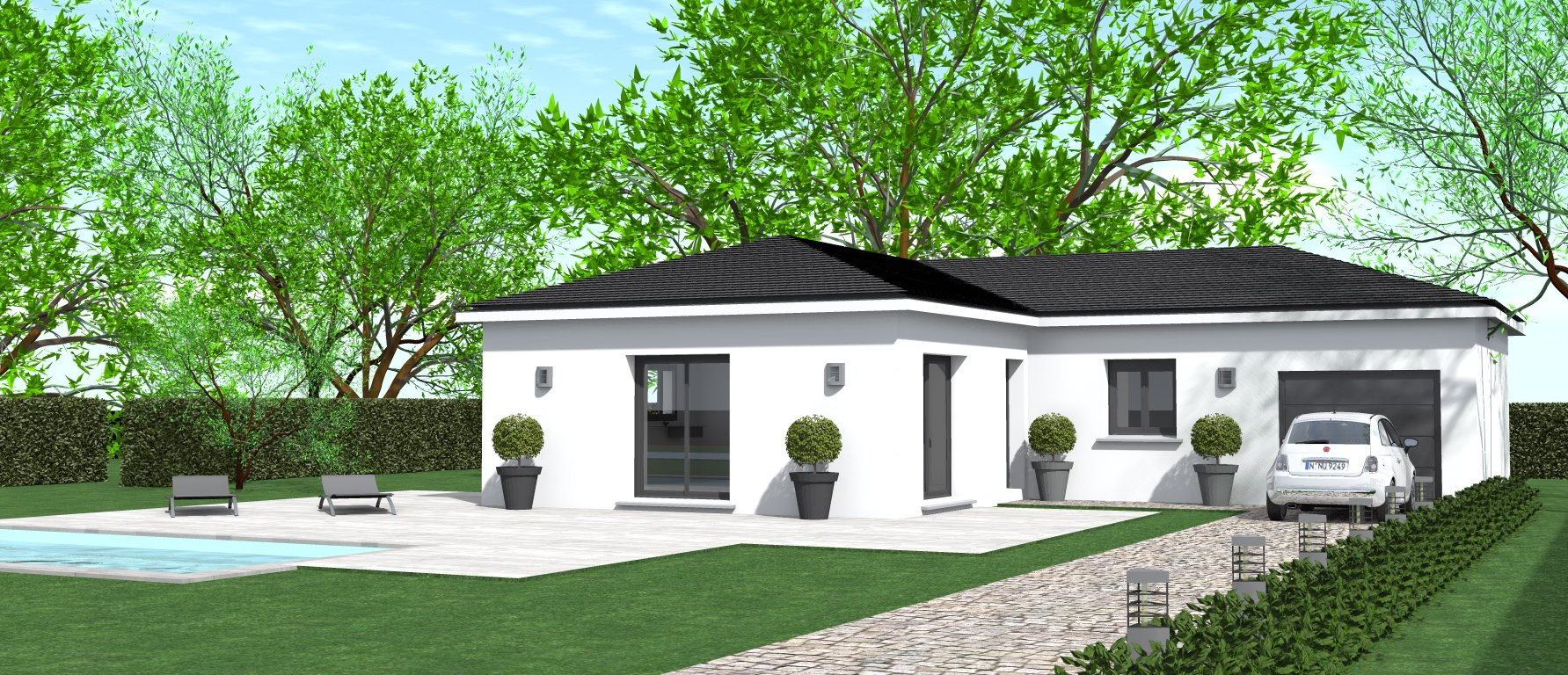 Maisons du constructeur HOME GROUP CONSEILS • 90 m² • VEYSSILIEU
