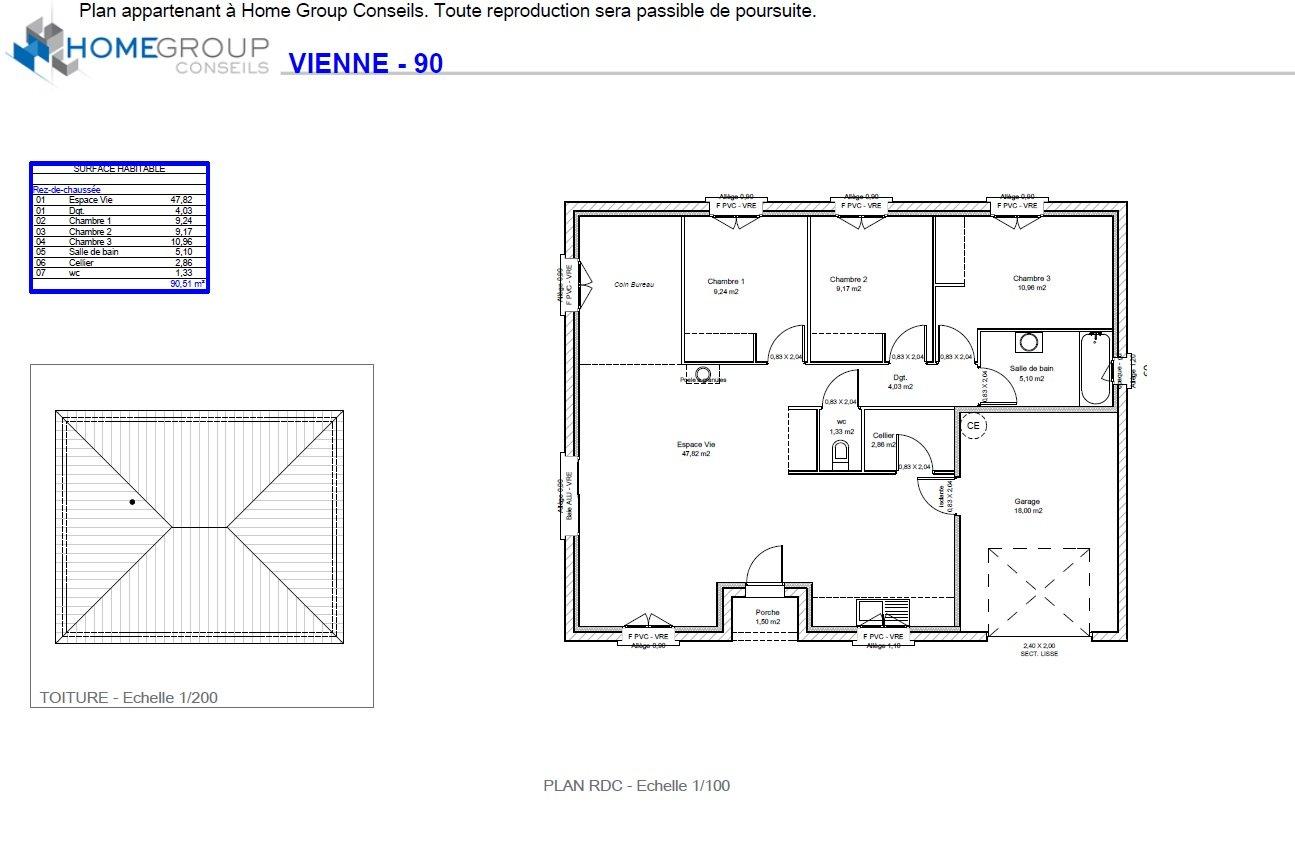 Maisons du constructeur HOME GROUP CONSEILS • 90 m² • VILLE SOUS ANJOU