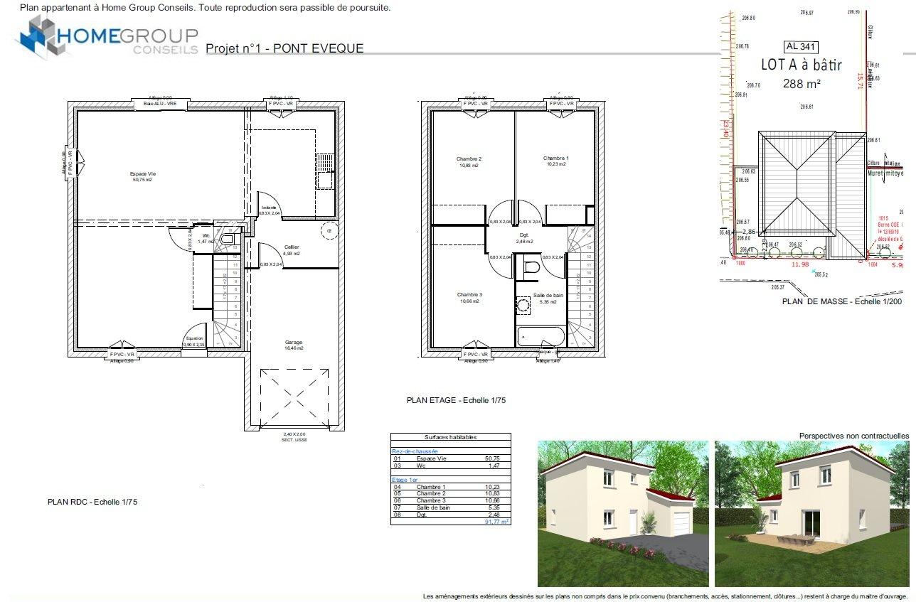 Maisons du constructeur HOME GROUP CONSEILS • 92 m² • PONT EVEQUE