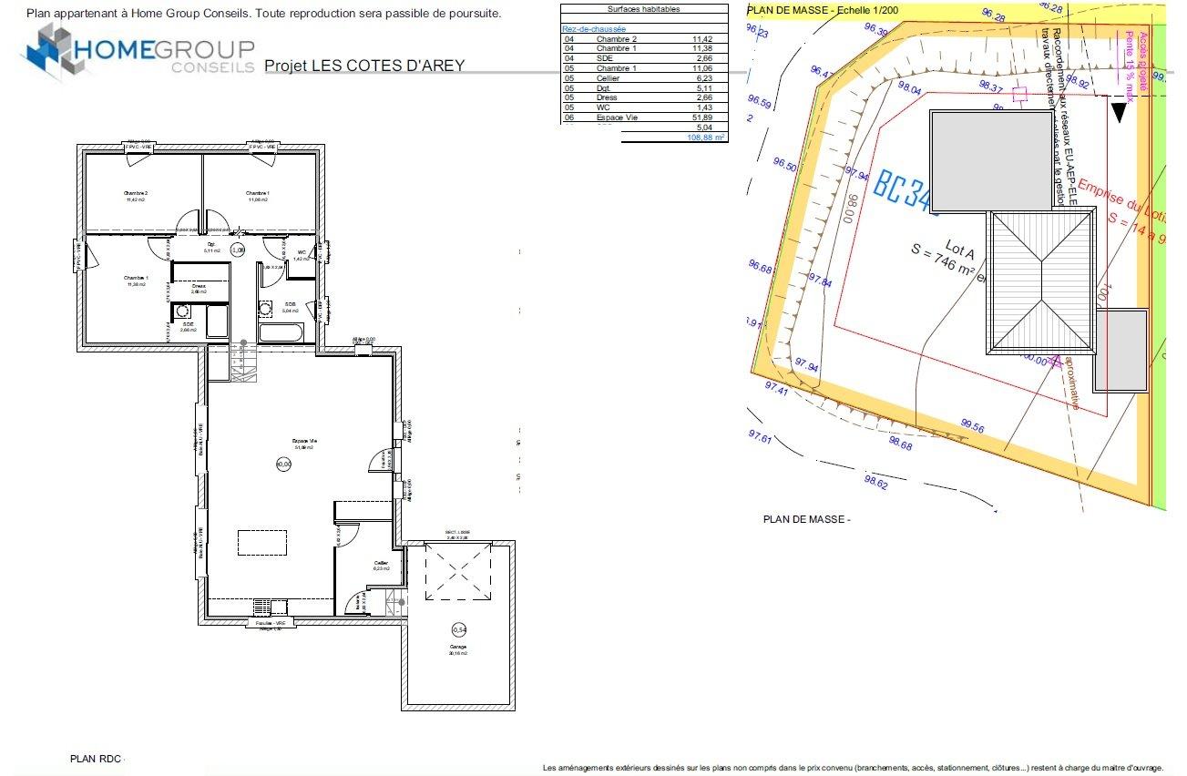 Maisons du constructeur HOME GROUP CONSEILS • 109 m² • LES COTES D'AREY