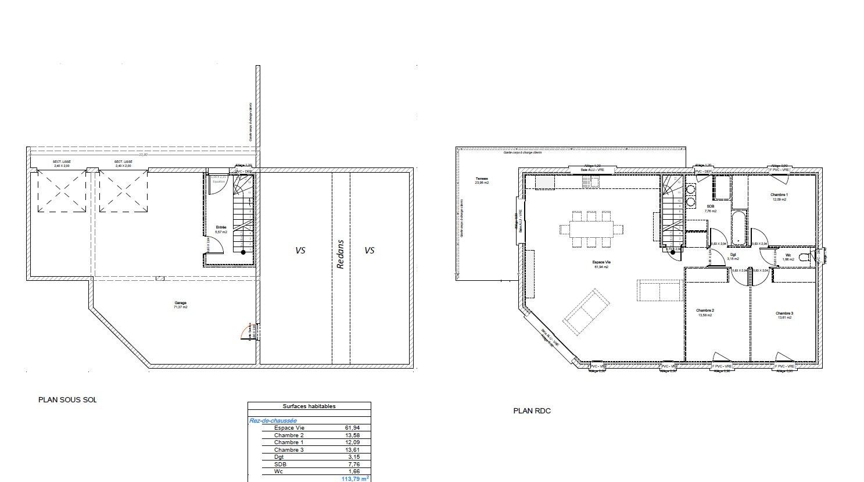 Maisons du constructeur HOME GROUP CONSEILS • 114 m² • LES COTES D'AREY