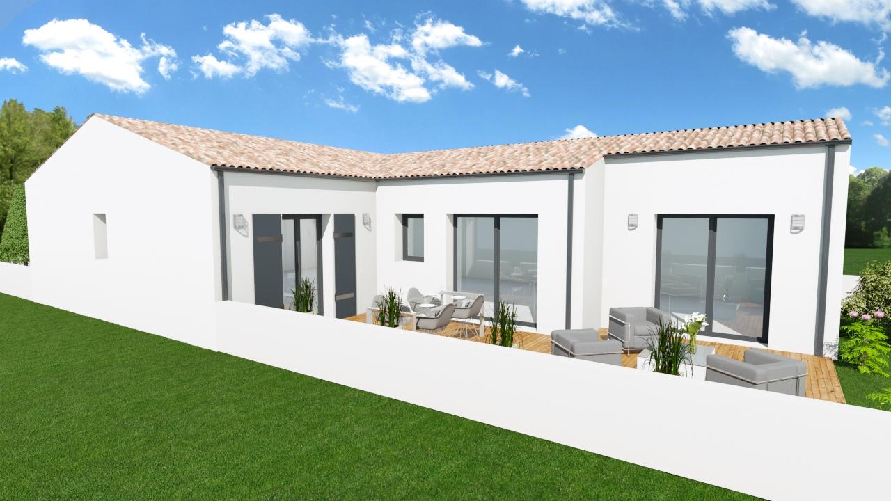 Maisons + Terrains du constructeur MAISONS ARLOGIS ROCHEFORT • 92 m² • TONNAY CHARENTE