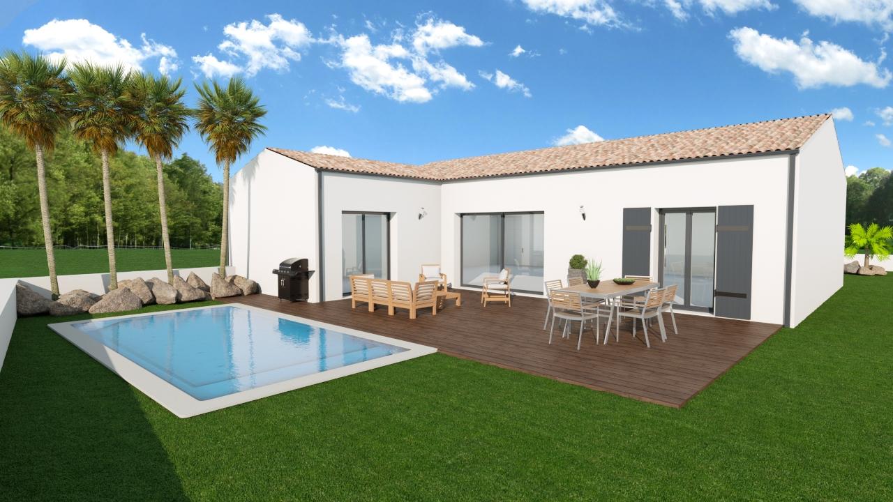 Maisons + Terrains du constructeur MAISONS ARLOGIS ROCHEFORT • 99 m² • TONNAY CHARENTE