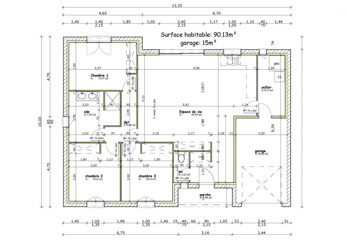 Maisons + Terrains du constructeur MAISONS ARLOGIS ROCHEFORT • 90 m² • SAINT SAVINIEN