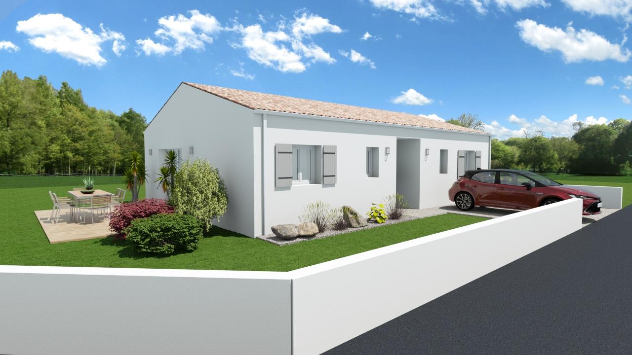 Maisons + Terrains du constructeur MAISONS ARLOGIS ROCHEFORT • 85 m² • AIGREFEUILLE D'AUNIS