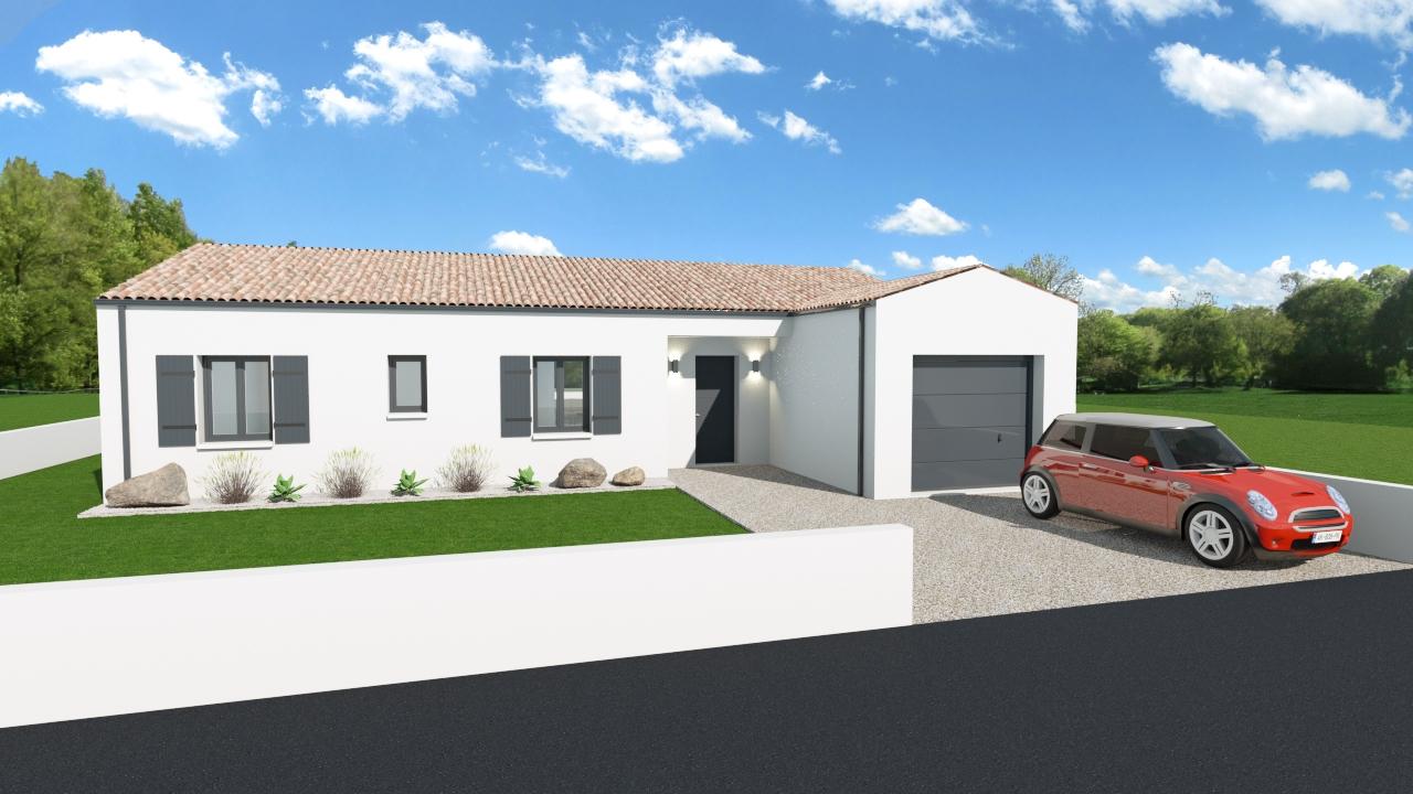 Maisons + Terrains du constructeur MAISONS ARLOGIS ROCHEFORT • 107 m² • TONNAY CHARENTE