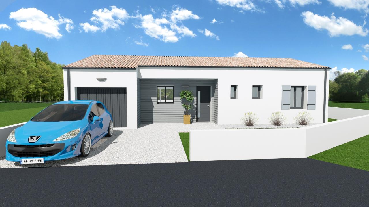 Maisons + Terrains du constructeur MAISONS ARLOGIS ROCHEFORT • 80 m² • TONNAY CHARENTE
