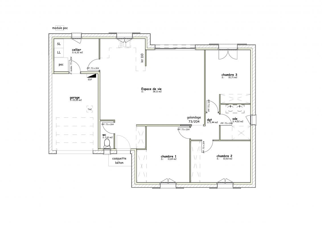 Maisons + Terrains du constructeur MAISONS ARLOGIS ROCHEFORT • 85 m² • VARZAY