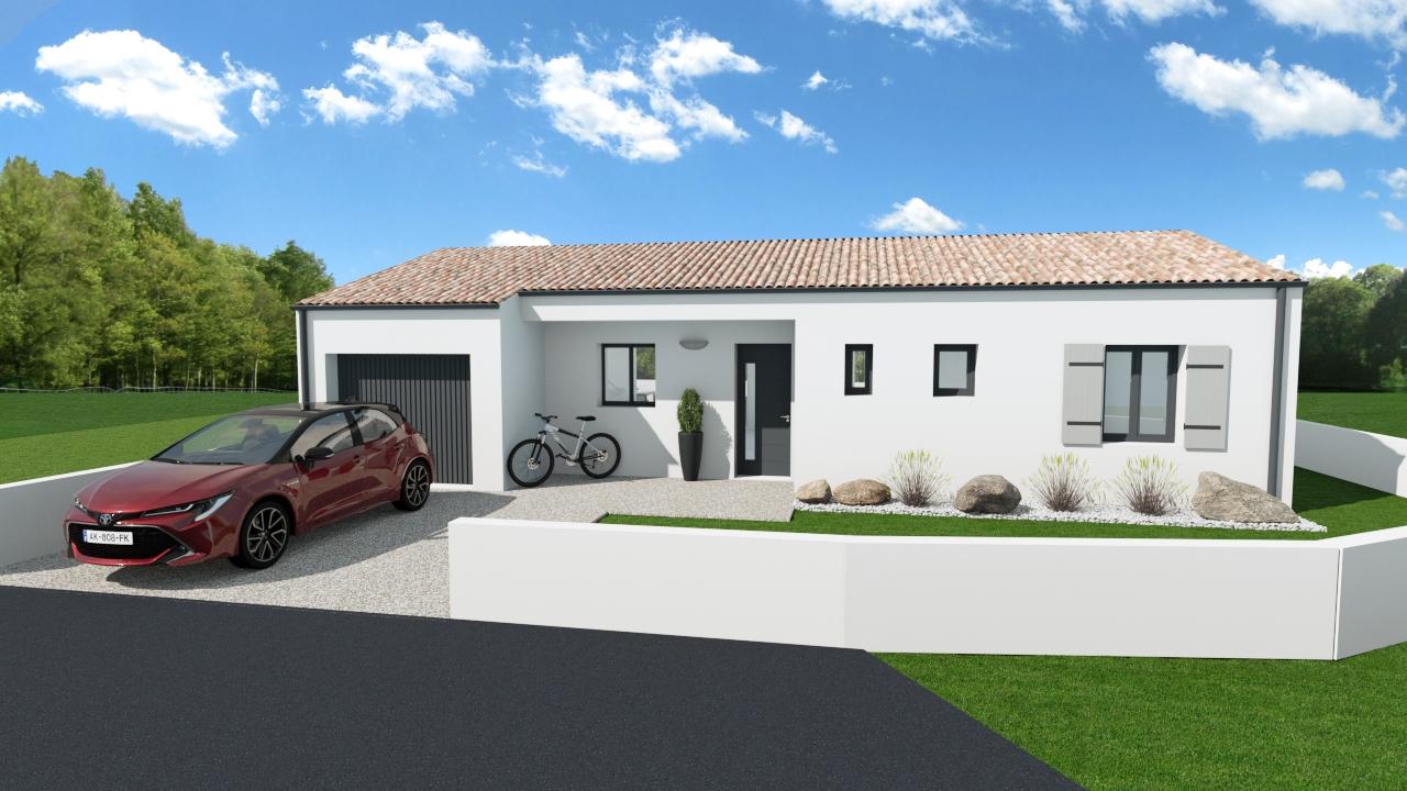 Maisons + Terrains du constructeur MAISONS ARLOGIS ROCHEFORT • 80 m² • SAINT SAUVEUR D'AUNIS