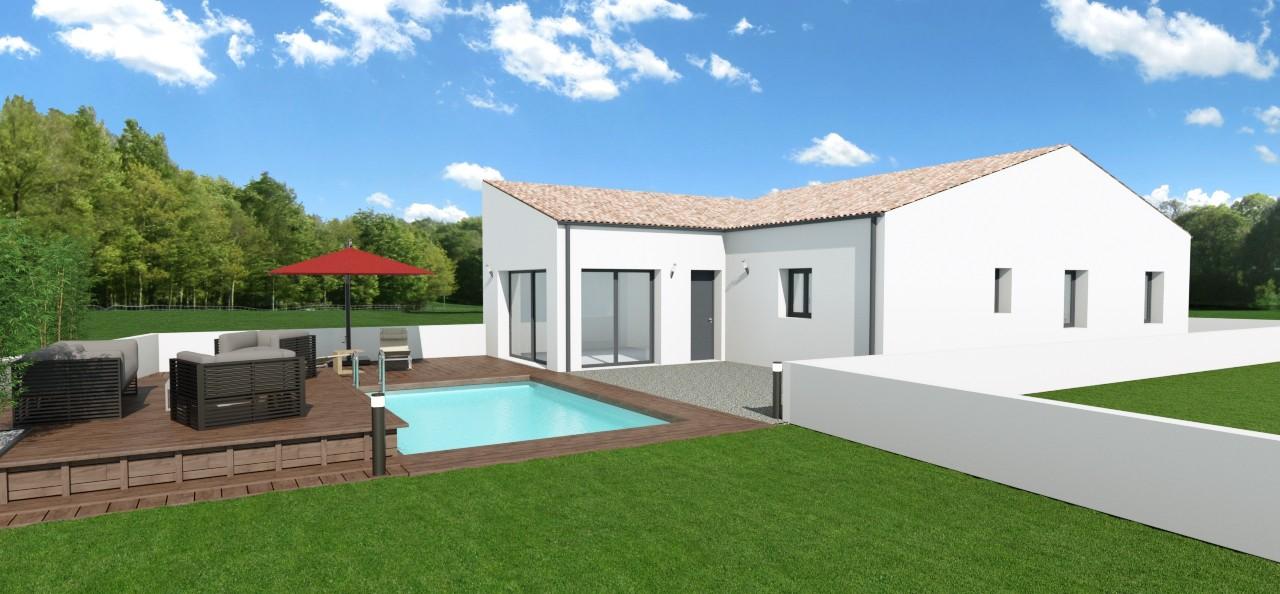 Maisons + Terrains du constructeur MAISONS ARLOGIS ROCHEFORT • 118 m² • ECHILLAIS