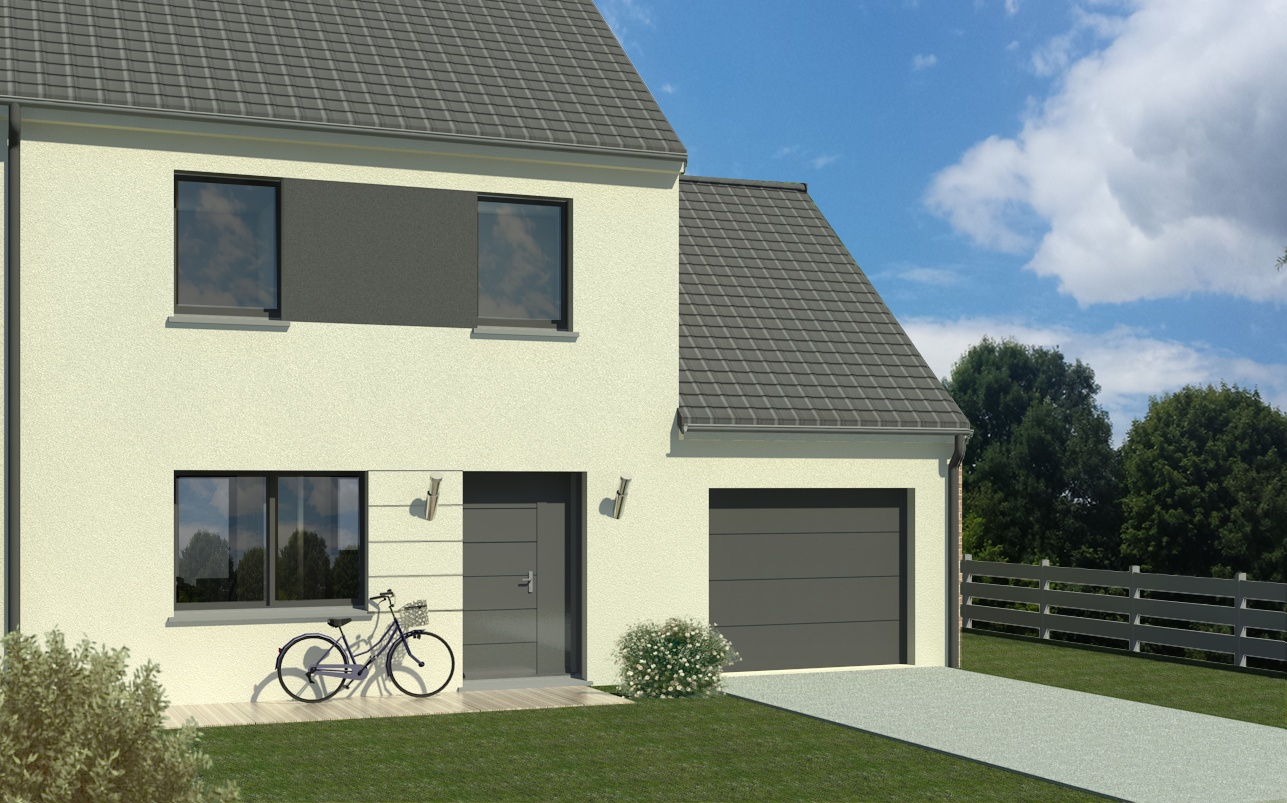 Maisons + Terrains du constructeur MAISON FAMILIALE • 100 m² • NANTEUIL LES MEAUX