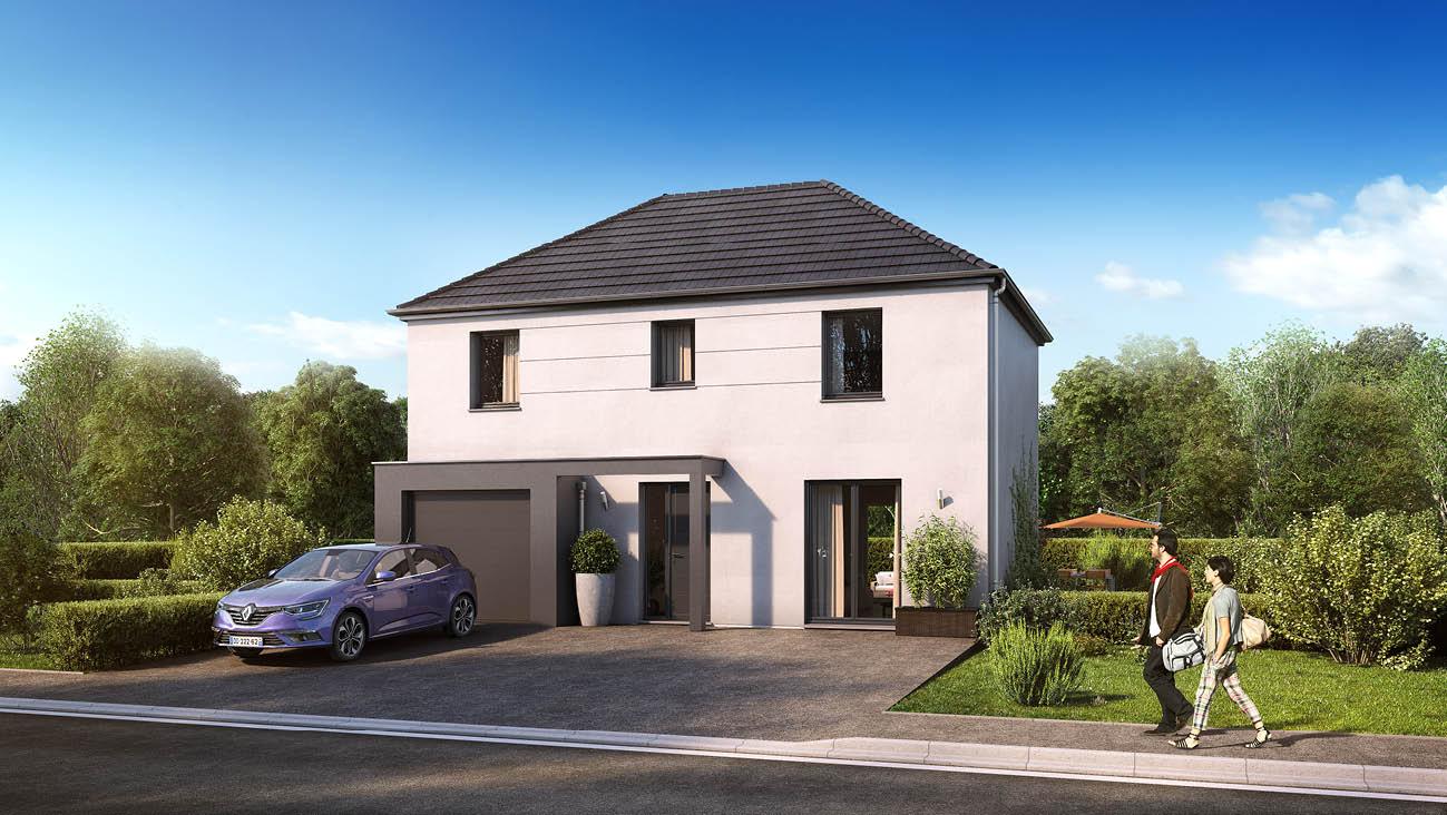 Maisons + Terrains du constructeur MAISON FAMILIALE MAREUIL LES MEAUX • 102 m² • CRECY LA CHAPELLE