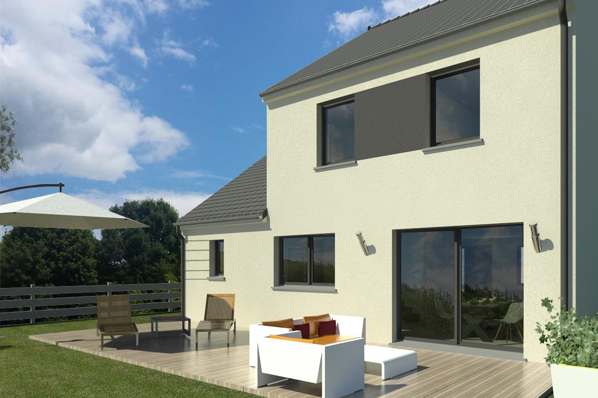 Maisons + Terrains du constructeur MAISON FAMILIALE MAREUIL LES MEAUX • 100 m² • ROZAY EN BRIE