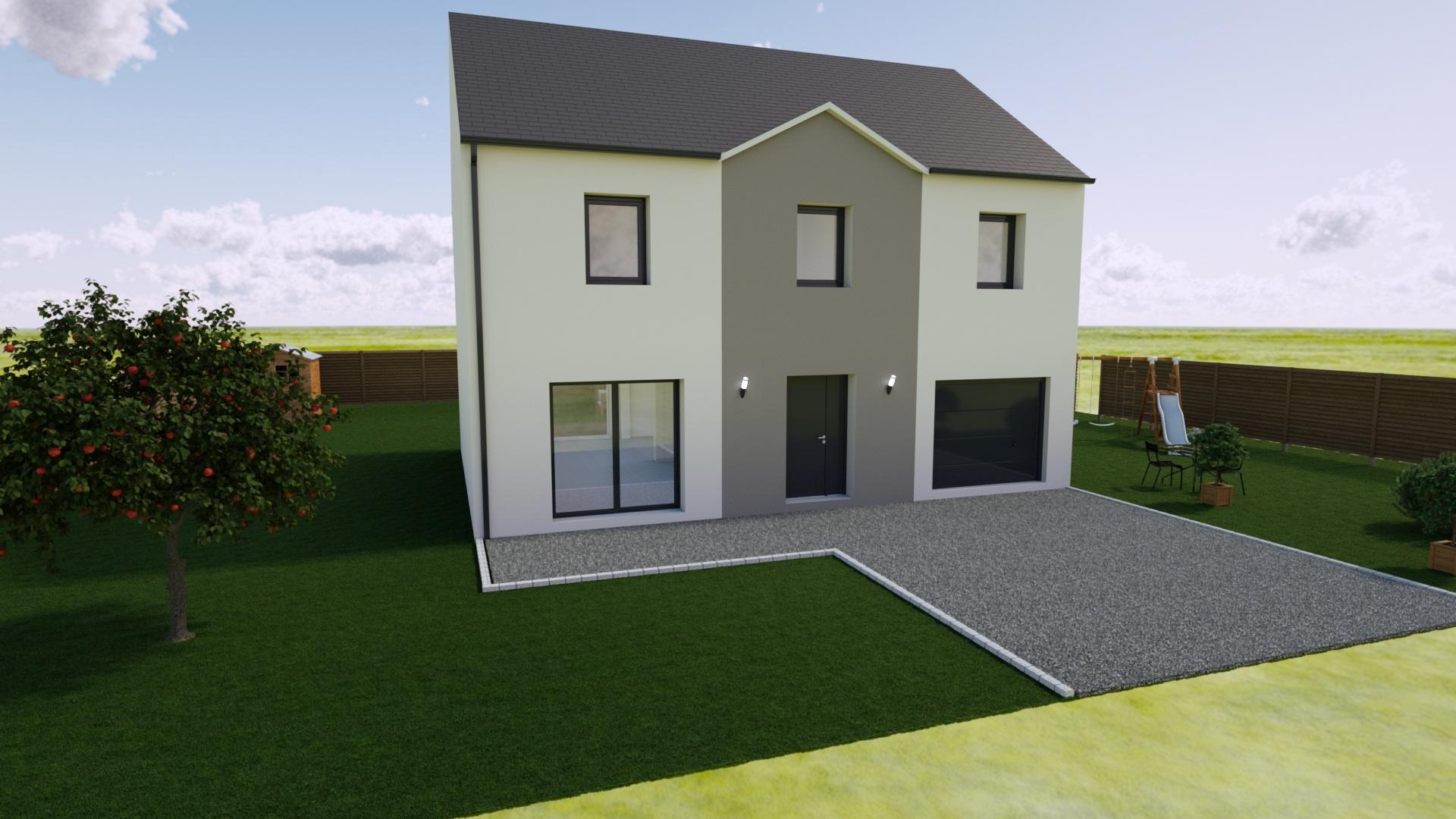 Maisons + Terrains du constructeur MAISON FAMILIALE • 130 m² • FONTENAY TRESIGNY