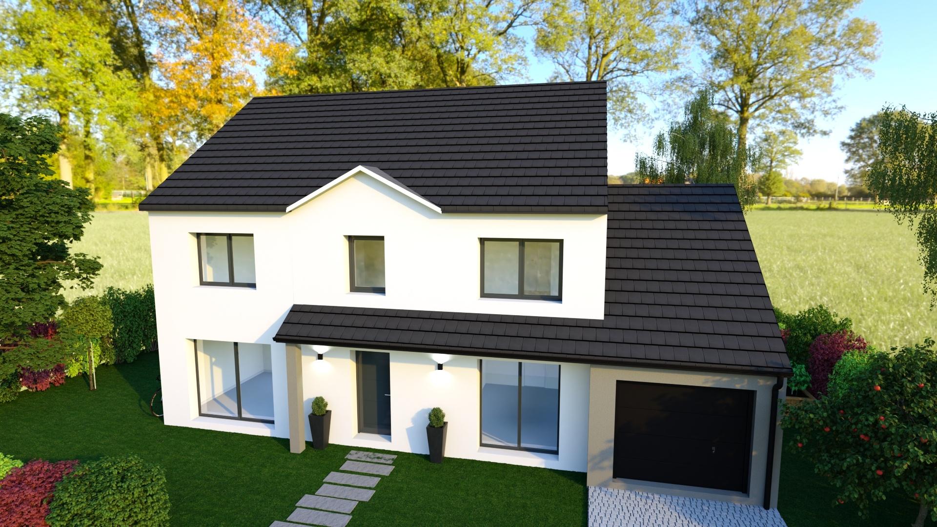 Maisons + Terrains du constructeur MAISON FAMILIALE • 130 m² • REBAIS