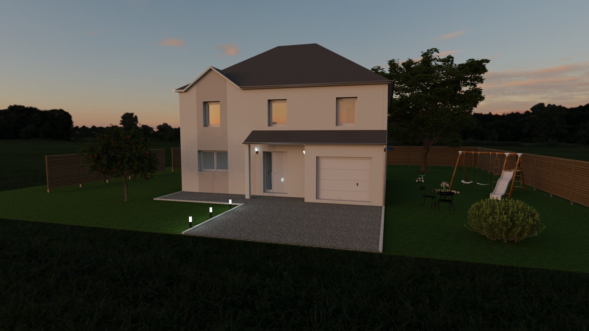 Maisons + Terrains du constructeur MAISON FAMILIALE • 130 m² • MOUROUX