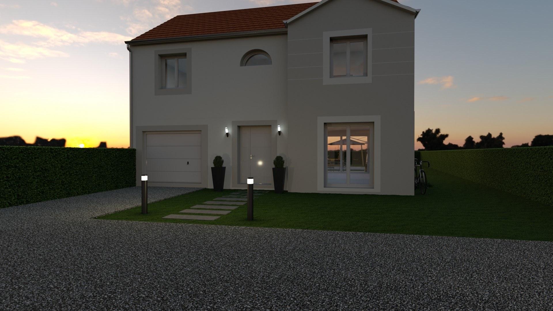 Maisons + Terrains du constructeur MAISON FAMILIALE • 130 m² • LA FERTE SOUS JOUARRE