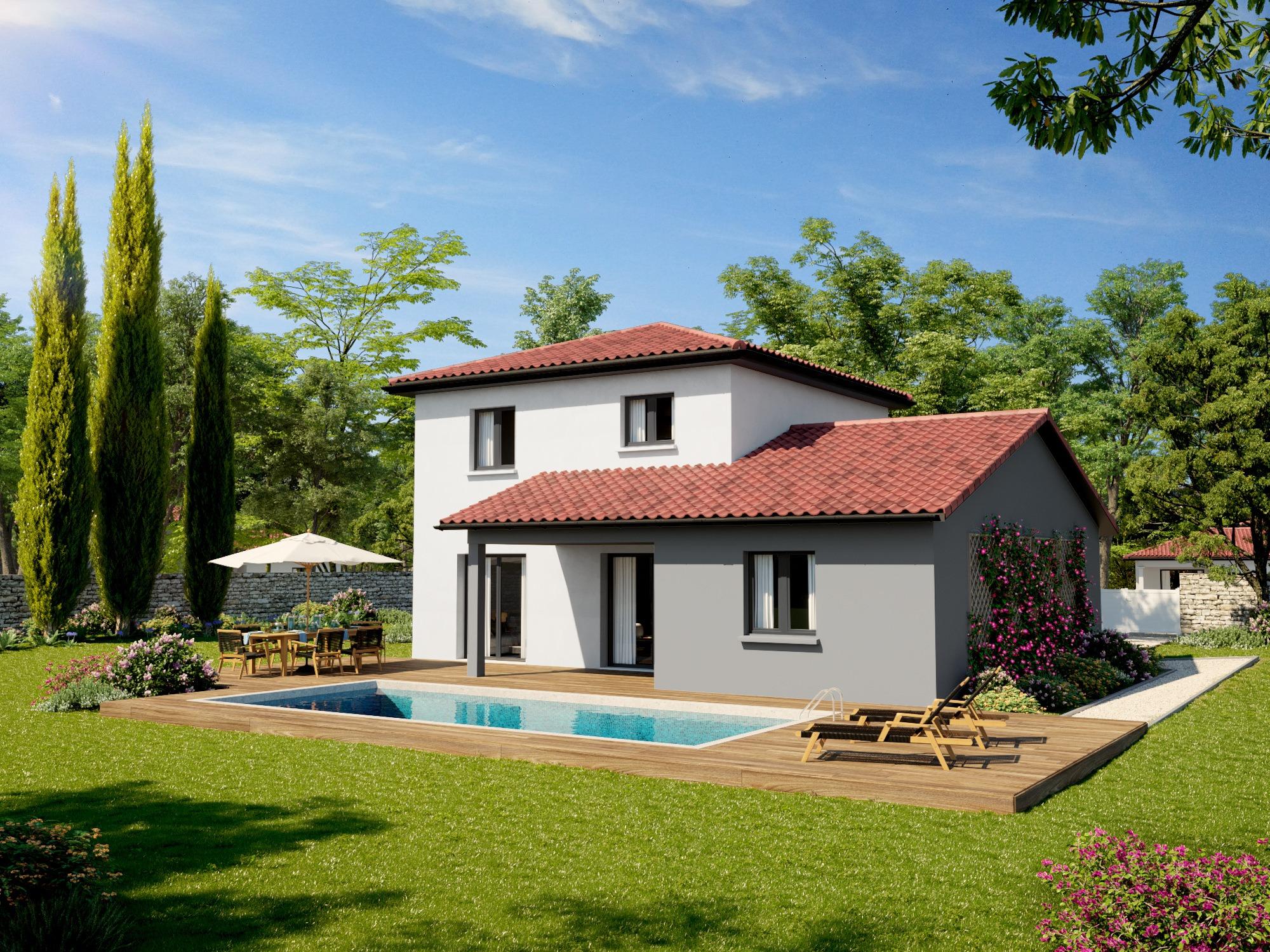 Maisons + Terrains du constructeur DEMEURES CALADOISES • 104 m² • SURY LE COMTAL