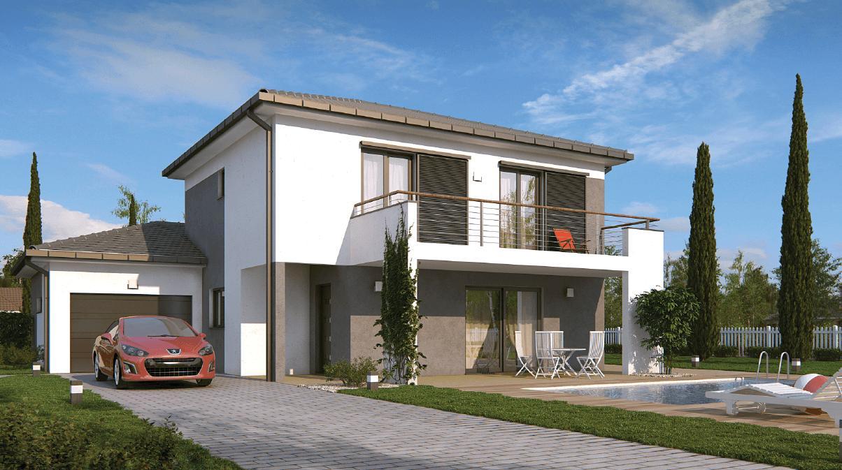 Maisons + Terrains du constructeur DEMEURES CALADOISES • 142 m² • SURY LE COMTAL