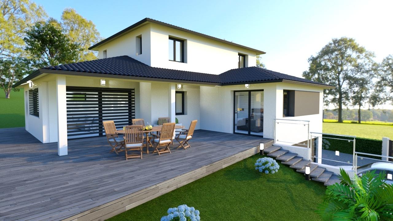 Maisons + Terrains du constructeur DEMEURES CALADOISES • 130 m² • SAINT MARTIN LA PLAINE