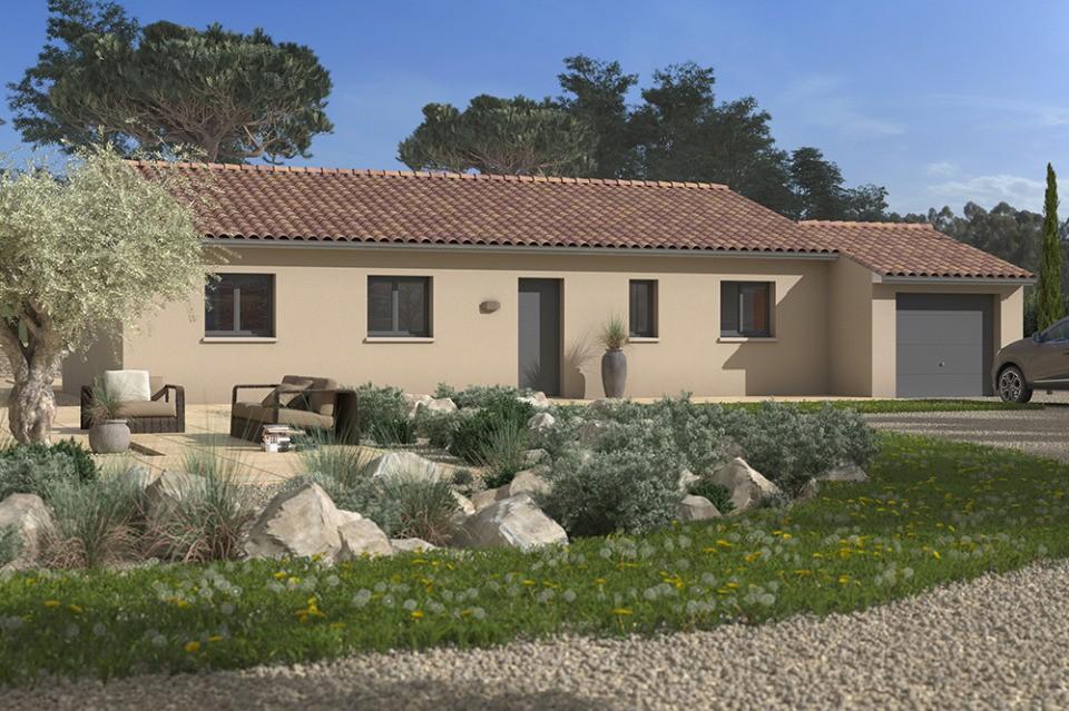 Maisons + Terrains du constructeur MAISONS FRANCE CONFORT • 105 m² • MONOBLET