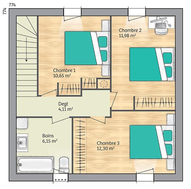 Maisons du constructeur LES MAISONS DE MANON • 82 m² • BRIGNAC