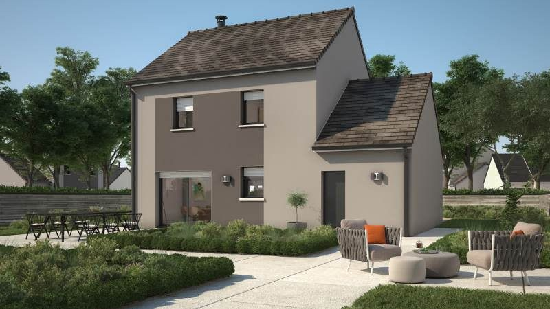 Maisons + Terrains du constructeur MAISONS FRANCE CONFORT • 91 m² • ECQUEVILLY