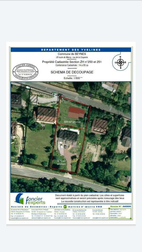 Terrains du constructeur MAISONS FRANCE CONFORT • 500 m² • BEYNES