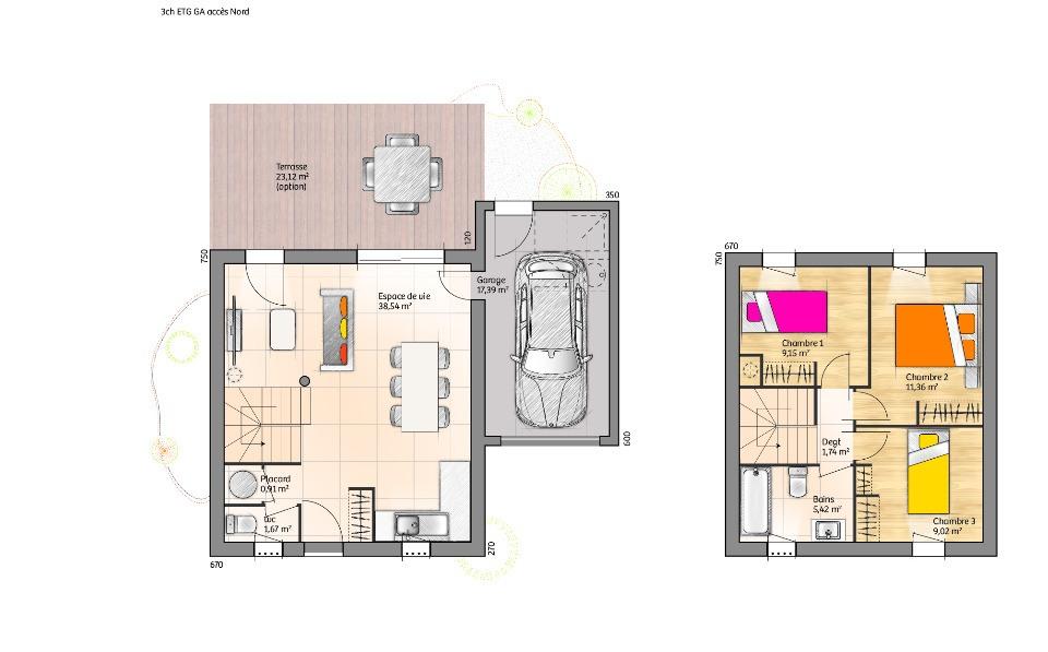 Maisons + Terrains du constructeur LMP CONSTRUCTEUR • 78 m² • JARD SUR MER