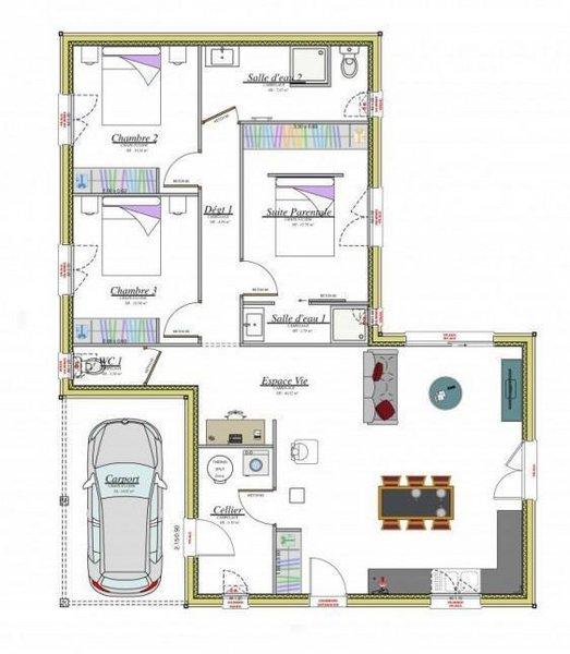 Maisons du constructeur MAISONS BATIDUR • 97 m² • EYBOULEUF