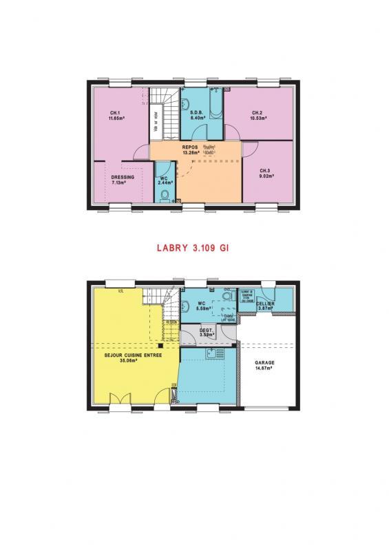 Maisons du constructeur MAISONS PIERRE  BEAUVAIS • 109 m² • GOUVIEUX