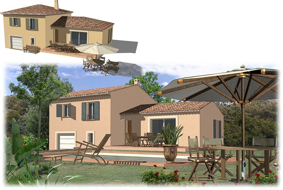 Maisons + Terrains du constructeur SAS MAISONS BLANCHES •  m² • SEILLONS SOURCE D'ARGENS