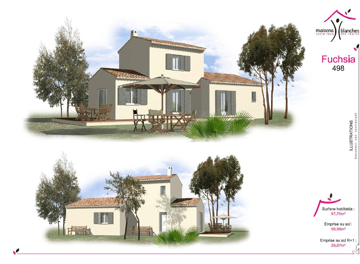 Maisons + Terrains du constructeur SAS MAISONS BLANCHES •  m² • SAINT MAXIMIN LA SAINTE BAUME