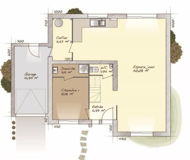 Maisons + Terrains du constructeur MAISONS BALENCY • 139 m² • SAINT CHERON