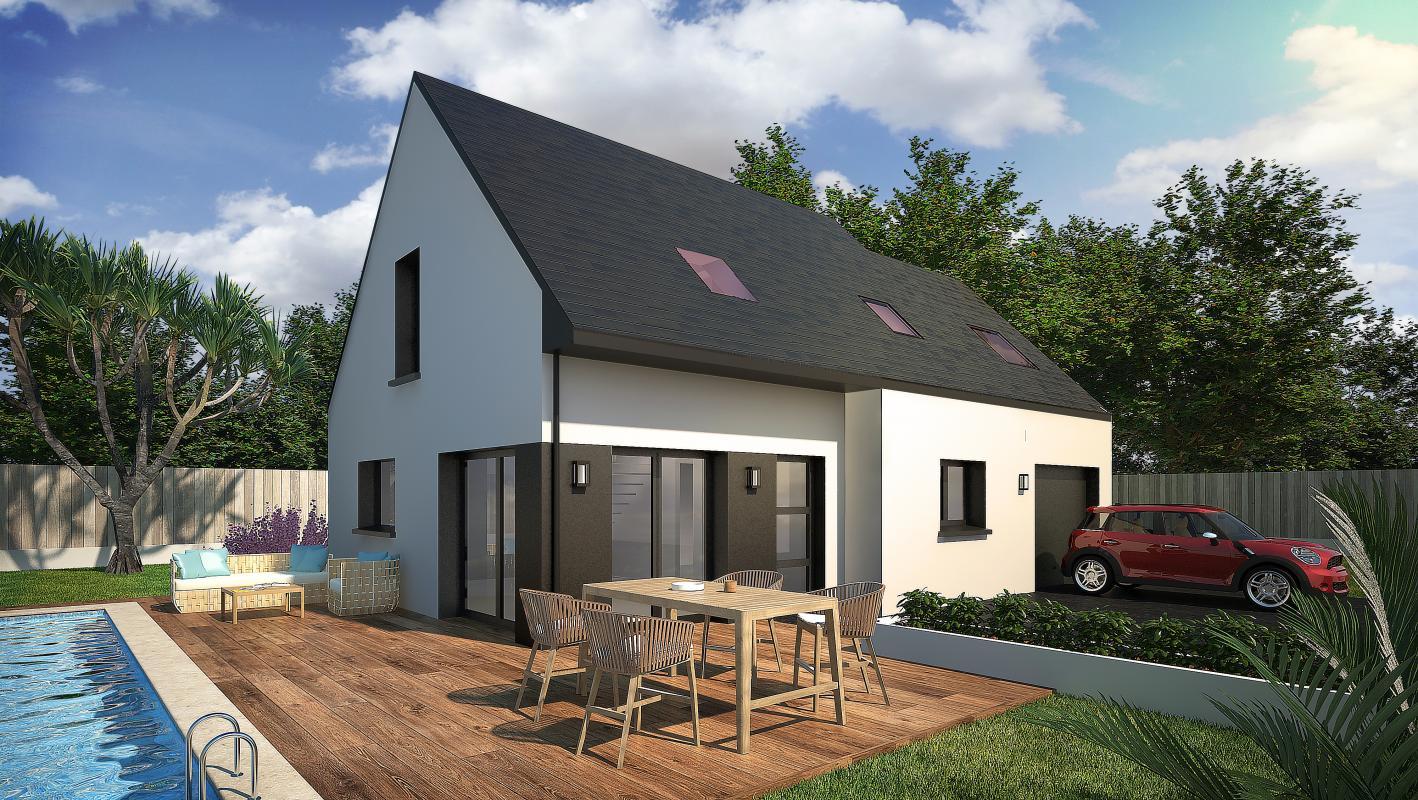 Maisons + Terrains du constructeur CONSTRUCTIONS DU BELON • 93 m² • LE TOUR DU PARC