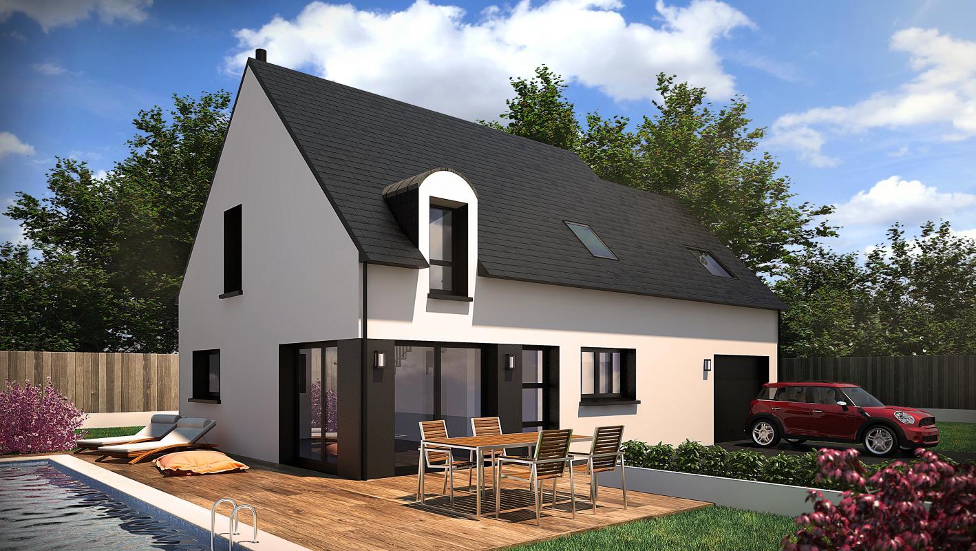 Maisons + Terrains du constructeur CONSTRUCTIONS DU BELON • 110 m² • PLOEREN