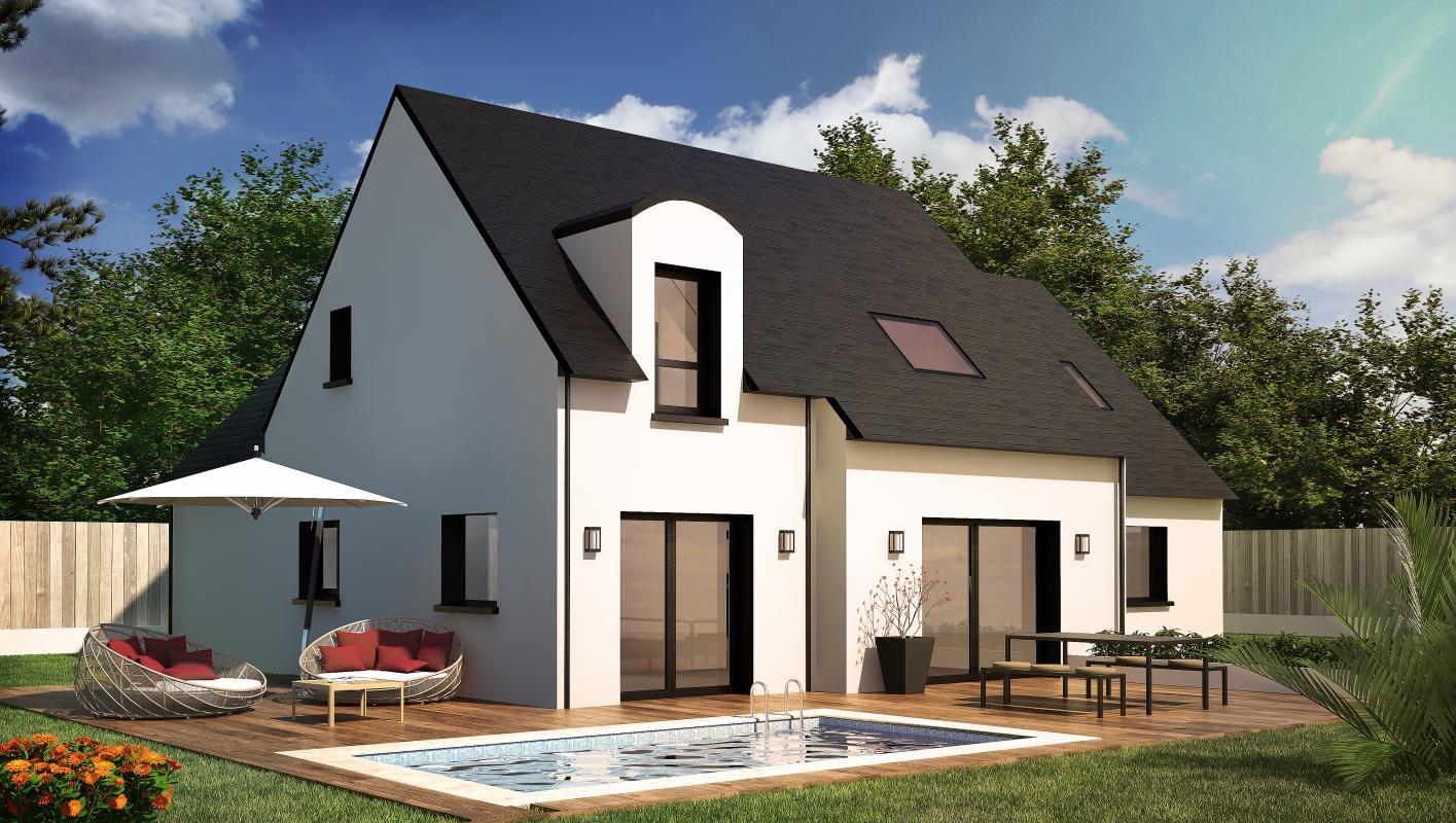 Maisons + Terrains du constructeur CONSTRUCTIONS DU BELON • 122 m² • PLUVIGNER